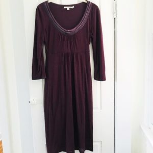 Boden Dresses - Boden Sz 2 Purple Knit 3/4 Sleeved Dress